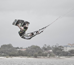 Andy 1 (Luke Middleton.) Tags: cloud kite beach andy water sunshine coast iso200 board windy 70200 f4 boarding yates caloundra desaturate rivermouth 60d