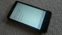 HTC HD7 with Windows Mobile 7