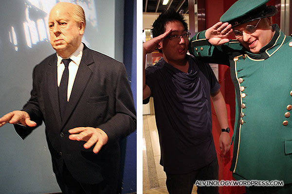 Alfred Hitchcock and Benny Hill