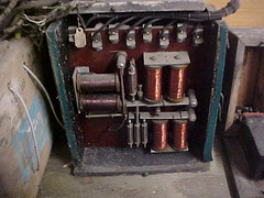 early O.B.McClintock vault burglar alarm relay enclosed in typical wooden case. (O B McClintock bank vault burglar alarm) Tags: alarm clock minnesota electric museum panel time bell ace police bank victor master american vault safe horn yale robbery edwards electrical timer protection gauge siren adt volt burglar diebold mosler holdup bankers mcclintock milliampere ademco obmcclintock amseco