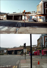 Lambeth Road`1989-2010 (roll the dice) Tags: uk bridge london art history classic beer architecture breakfast bacon cafe pub comedy closed traffic south egg ale police rail arches smoking spirits actor 1989 local streetfurniture filming lambeth 1949 lager locations zebracrossing millbank se1 dhl boozer se11 oldandnew publichouse londonist bygone hereandnow pastpresent ealingstudios passporttopimlico