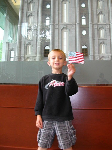Oct 5 2010 Cal in front on Salt Lake Temple replica