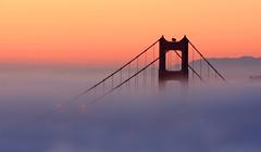 Fog Painting (A Sutanto) Tags: sf sanfrancisco california ca city morning bridge red urban orange usa tower fog america sunrise dawn south goldengate ggb thepowerofnow