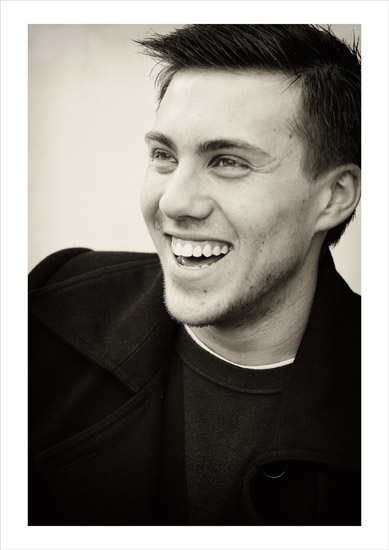Black and white fashion photography, location portrait style, Josh 1