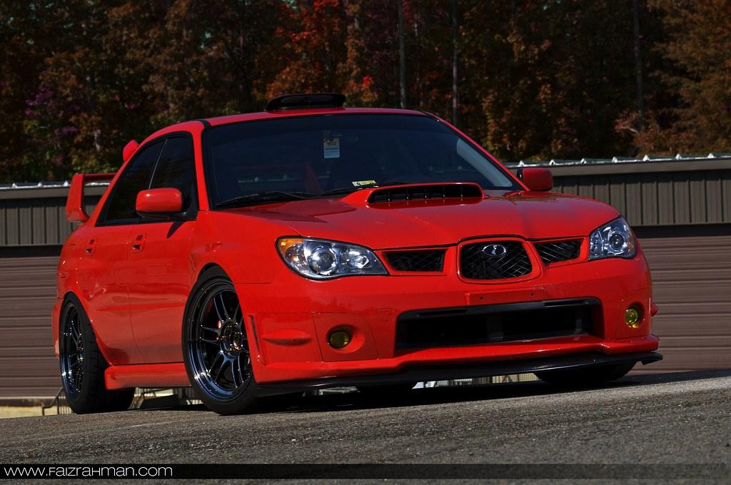 Photoshoot Red Subaru