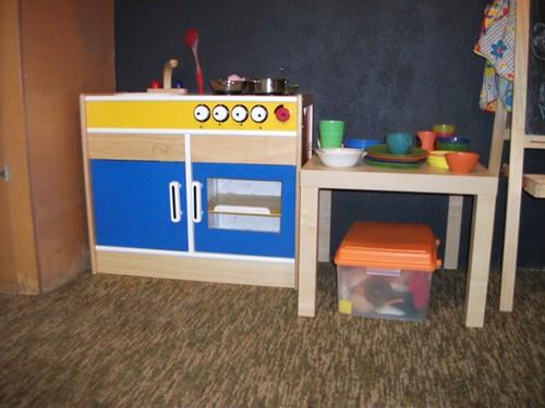 playroom kitchen