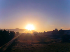 Sunrise during Camino de Santiago :) Kolejny wit na Camino:) (raphic :)) Tags: sky sun saint way dawn spain camino jacob compostela rays droga espania soce jakub niebo hiszpania caminodesantiagodecompostella promienie wit wiety