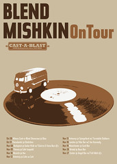 Blend Mishkin on tour (til01) Tags: england brown green colors yellow vw poster europe hungary tour purple greece record van transporter blend mishkin castablast indyvisuals
