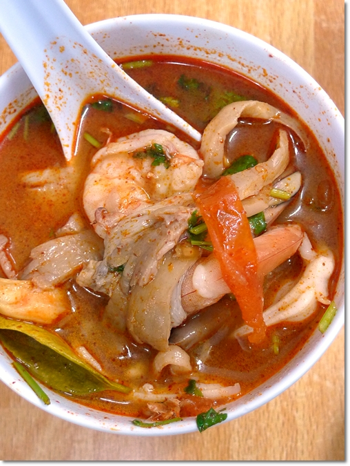 Tom Yum Soup loaded with Seafood