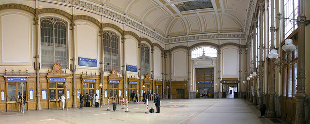 Budapest - The Western railway station ticket office panorama
