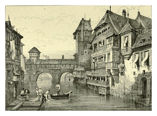 033-Nuremberg-Sketches by Samuel Prout in France Belgium….1915