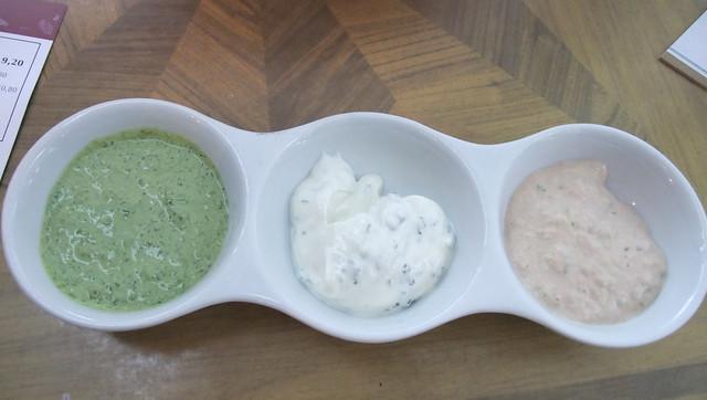 Herb Sauce Dip, Yogurt Dip and Anchovy Dip