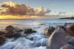 Kapaa and the Sea - Big Island, Hawaii (PatrickSmithPhotography) Tags: ocean sea sky usa cloud seascape water landscape lava unitedstates wave bigisland kapaa kohala