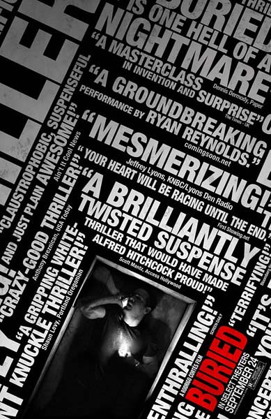buried rave reviews poster