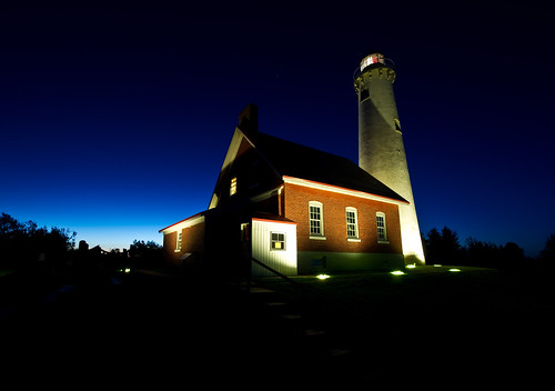Tawas Point Light at Sunrise