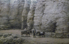 Pegwell Bay, Kent - a Recollection of October 5th 1858, detail with bottom of cliffs