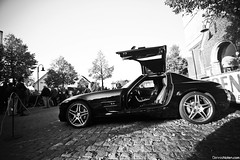 SLS. (Denniske) Tags: classic car canon eos mercedes benz october angle belgium rally wide belgi sigma mm dennis 9th legend 1020 sls amg limburg 2010 noten 500d bocholt f456 denniske legendrally dennisnotencom legendofthefall2010bydennisnotencom