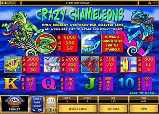 free Crazy Chameleons slot mini symbol