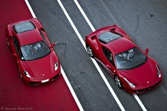 Ferrari F430 vs Ferrari 458 Italia (Edoardo Mascalchi - EM Photography) Tags: auto red wallpaper car photography florence italian nikon track italia day grigio colours shot shots stripes great fast automotive ferrari pit best 45 exotic f lane firenze 105 fotografia 18 toscana asphalt rims circuit motorsports asfalto rosso pista supercar 56 motorsport maranello exotics f430 supercars selective paddock 430 circuito 18105 fari emozioni scarperia mugello strisce 458 d90 f4556 striscie f458 pullfolioautomotive
