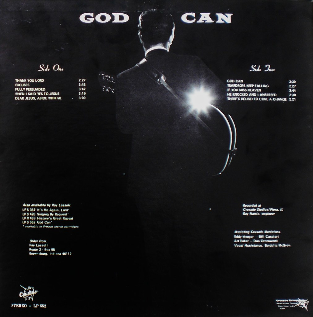 God Can by Ray Lassell back cover