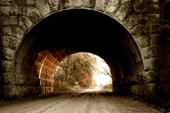 Morning Light (ICT_photo) Tags: road morning bridge light stone gravel ictphoto ianthomasguelphontario