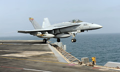 Lauching from Aircraft Carrier (US Navy) Tags: ship aircraft military militar hornet takeoff usnavy flightdeck buque ocano unitedstatesnavy portaaviones usstruman