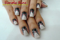 Nail Art Halloween Crawling Spiders 12