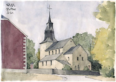Waha (gerard michel) Tags: architecture sketch belgium roman watercolour croquis