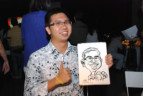 caricature live sketching for SDN First Anniversary Bash - 24