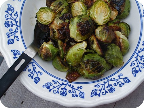 blistered brussel sprouts