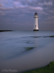Perch Rock (Pete Marsden) Tags: uk longexposure lighthouse seascape water dawn mersey wirral newbrighton ndfilter nd110 perchrock olympuse520