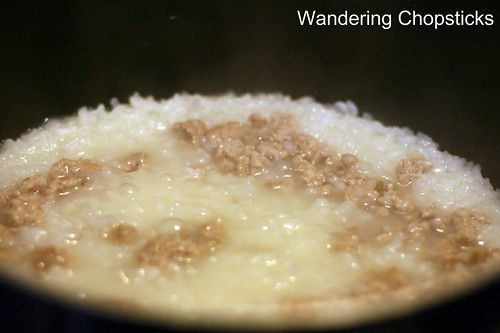 Chao  Congee  Jook Thit Heo Bam Hot Vit Bac Thao (Vietnamese  Chinese Rice Porridge with Ground Pork and Preserved Duck Egg) 6
