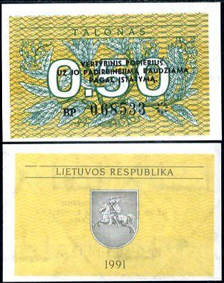 0.50 Talonas Litva 1991, P31