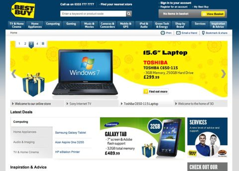 Best Buy homepage