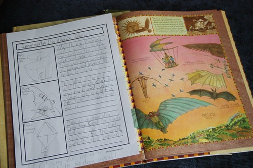 da vinci picture book and notebooking
