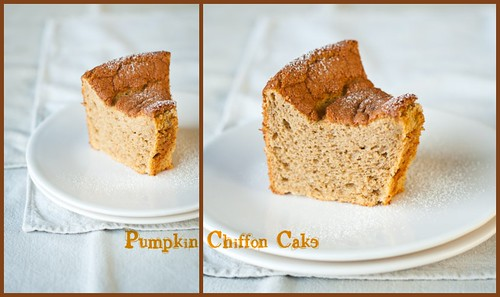 Pumpkin Chiffon Cake collage