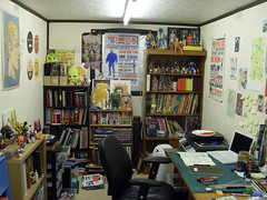 My Studio (Jack Teagle) Tags: strange studio toys desk books kitsch study workshop workspace reference paints