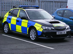 (924) GMP - Greater Manchester Police - Subaru Impreza - YC08 LVL (Call the Cops 999) Tags: november black manchester police plate led number automatic subaru greater recognition impreza complex gmp battenburg 2010 unit lightbar intercepter anpr liveried claytonbrook yc08lvl