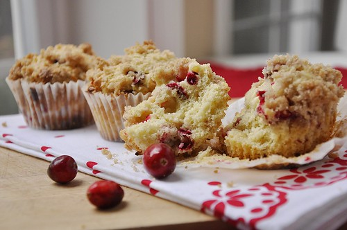 Eggnog Cranberry White Chocolate Muffins - your homebased mom