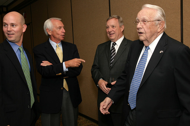 Governor Beshear, Senator Durbin, and Former Governor Ford