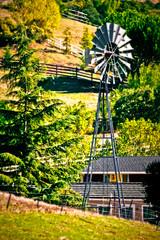 It takes five fences to contain a windmill (CharsShots) Tags: california sanramon orton explored fenceyfridaytoallcaliforniafarmlandfoothillswindmillgreenbolingercanyonroad