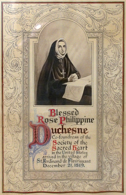 Old Saint Ferdinand Shrine, in Florissant, Missouri, USA - poster of Saint Rose Philippine Duchesne