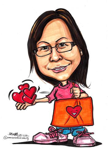 caring caricature