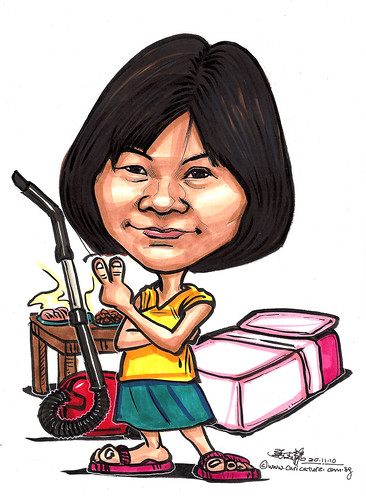 housewife caricature