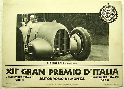 007-Italian Grand Prix 1934-© 2010 Vintage Auto Posters. All Rights Reserved