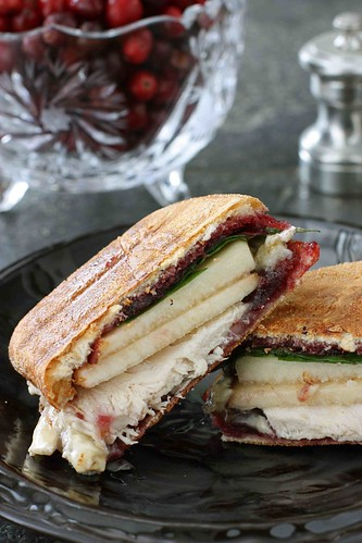 Turkey, Brie, Pear & Cherry-Chipotle Panini Recipe