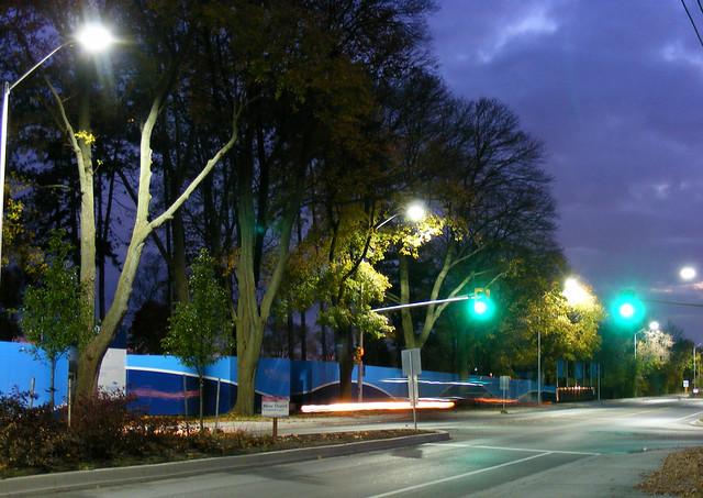 LED lighting on Lakeshore Road, Oakville