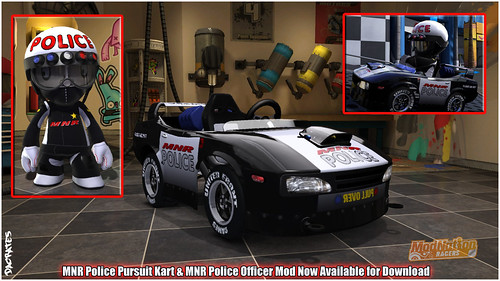 ModNation Racers PS3:  Police Mod and Kart