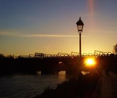 Miller Park Sunset in Preston (Tony Worrall Foto) Tags: uk bridge sunset england urban sun lamp beauty landscape outside golden evening photo nice glow shine northwest image dusk north stock scenic use preston lit sunlit millerpark lancs prestonian 2011tonyworrall