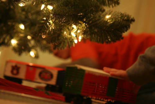 Christmas Train Set-Up 2010